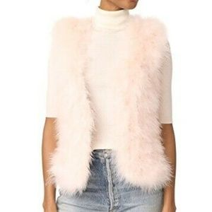 Club Monaco Violet Feather Vest Pink